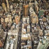 Top view of New York City. Top of the Rock Royalty Free Stock Photography
