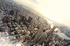 Top view of New york. Very high view of New York Stock Photography