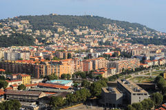 Top view on Nice, mountains, buildings, sea Stock Photography