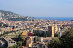 Top view on Nice, mountains, buildings, sea Royalty Free Stock Photography