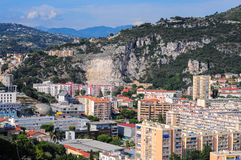 Top view on Nice, mountains, buildings Stock Photo