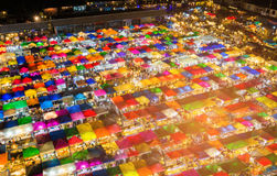 Top view, Night flea market multiple colour background. Cityscape downtown background royalty free stock photo