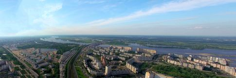 Top view of Nizhny Novgorod. stock photo