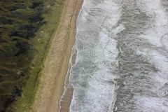 top view on the north sea beach Stock Photo