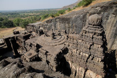 The top view not  Ellora Caves Stock Image