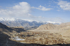 Top view of Nubra valley, Leh Stock Photography