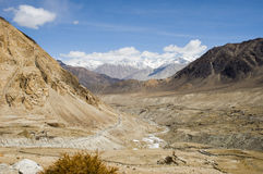 Top view of Nubra valley, Leh Royalty Free Stock Photos