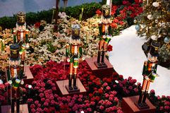 Top View of Nutcracker Statue Stock Images