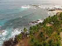 Top view of ocean bay in Sri-Lanka Stock Photos