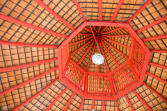 Top view octagon roof structure abstract style Stock Photography