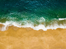 Free Top View Of A Deserted Beach. The Portuguese Coast Of The Atlantic Ocean Royalty Free Stock Photography - 98071417