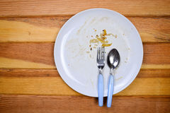 Free Top View Of Empty Plate, Dirty After The Meal Is Finished. Stock Photos - 57758713