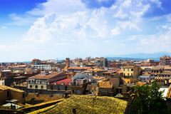 Top View Of European City In Sunny Day. Girona Royalty Free Stock Photos