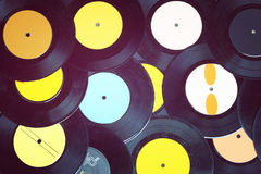 Free Top View Of Many Records Royalty Free Stock Photo - 41228145