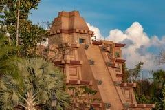 Free Top View Of Mayan Pyramid In Mexico Pavillion At Epcot 70 Stock Photo - 176469040