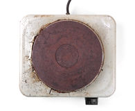 Free Top View Of Old Rusty Electric Cooker Stock Photo - 58155320
