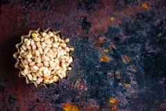 Free Top View Of Pine Nuts Over The Rusty Background. Stock Photography - 106648242