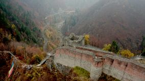 Top View Of Poenari Castle Royalty Free Stock Images