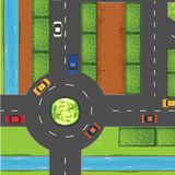 Top View Of Street And Roundabout Royalty Free Stock Images