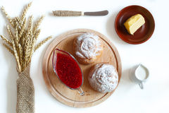 Free Top View Of The Baking And Jam Royalty Free Stock Image - 47771326