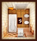 Top View Of The Bathroom Stock Photography