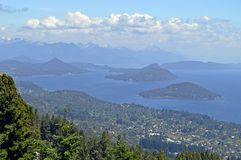 Top View Of The City Of Bariloche
