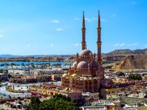 Free Top View Of The Old City, Al Mustafa Mosque And The Red Sea In Sharm El Sheikh. Beautiful Panorama Of The Egyptian Tourist City On Royalty Free Stock Image - 170683836