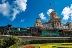 Free Top View Of Train Station In Magic Kingdom At Walt Disney World   3 Royalty Free Stock Image - 150804876