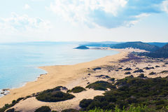 Top View Of Turtle Beach Karpaz, North Cyprus Stock Images