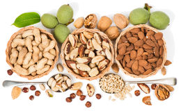 Free Top View Of Variety Of Nuts Royalty Free Stock Photos - 43805818