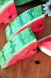Top View Of Watermelon Skin Royalty Free Stock Photos