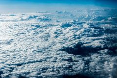Free Top View Of White Clouds Above The Ground Or Water Stock Photo - 142360380