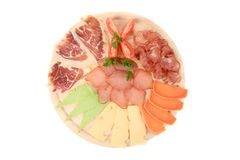 Top View Of Wooden Plate. Stock Image