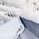 Top view on off-piste slope Stock Photo