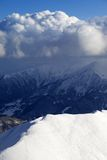 Top view on off-piste slope Royalty Free Stock Photography