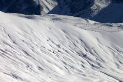 Top view on off-piste slope at evening Stock Photos
