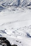 Top view on off-piste slope Royalty Free Stock Image