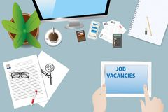 Job search concept vector Royalty Free Stock Images