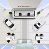 Top View Office Interior Of Automobile Salon Royalty Free Stock Photography