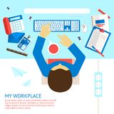 Top view office man Royalty Free Stock Photography