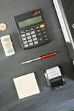 Top View of Office Objects Stock Photos