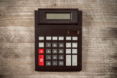 Top view of old calculator. Stock Image