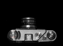 Top view of old camera Stock Photography