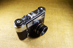 Top view of old camera Royalty Free Stock Image