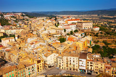 Top view of old Catalan town. Cardona Royalty Free Stock Photography