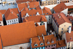 Top view of the old city of Riga, Latvia Royalty Free Stock Photography
