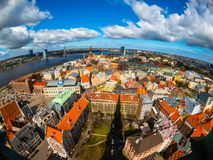 Top view of the old city of Riga Royalty Free Stock Photo