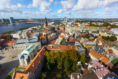 Top view of the old city of Riga Royalty Free Stock Photos