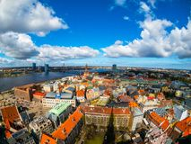 Top view of the old city of Riga Royalty Free Stock Photography