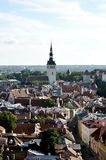 Top view on old city in Tallinn Estonia. In daylight Royalty Free Stock Photo